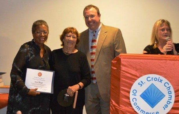 Sonya Ltd. Founder Sonya Hough is honored with a Lifetime Achievement Award. Photo Credit: St. Croix Chamber of Commerce