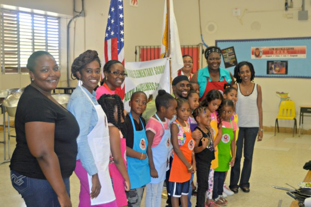 Pictured are students and educators at Lew Muckle Elementary School. Photo Credit: Virgin Islands Consortium
