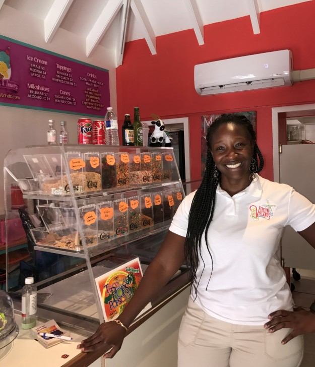 Pictured is Virgin Islands Food Tours Founder Anquanette Gaspard. This was taken at the Savor St. Croix, the last stop on the Taste of Twin Cities Tour.