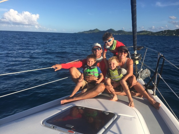 The Sommer Family enjoying another Caribbean sailing trip mid-2017.