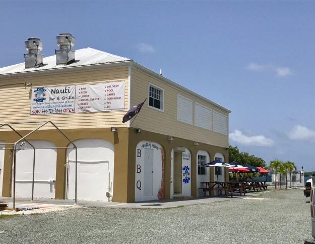 Nauti Bar & Grille is located on Hospital Street in Christiansted next to Bryan's Marine.